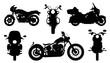 chopper silhouettes - 80861411