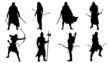 elf silhouettes - 80861415