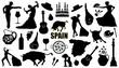 spain silhouettes - 80861425
