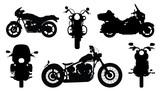 Fototapety chopper silhouettes