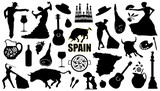 Fototapety spain silhouettes