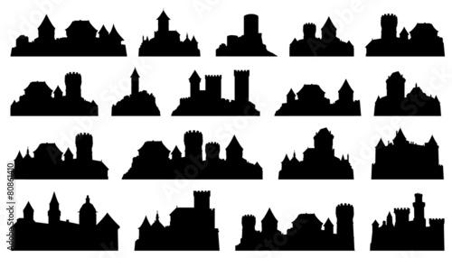castle silhouettes - 80861410