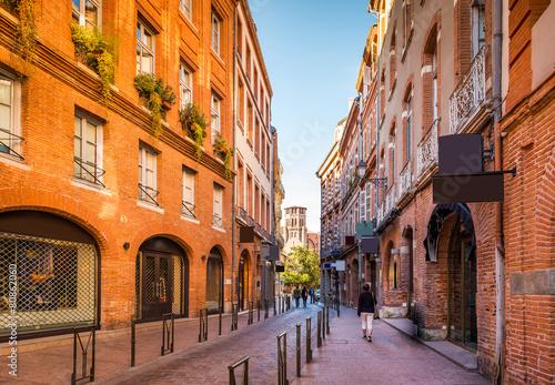Leinwandbild Motiv Rue de Toulouse, Haute-Garonne, Midi Pyrénées, Occitanie, France