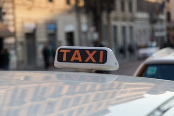 Taxi Sign in Rome