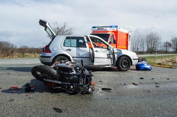 Schwerer Unfall mit Motorrad