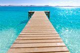 Platja de Alcudia beach pier in Mallorca Majorca - 80863666