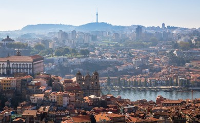 City of Porto from the Clerigos tower church