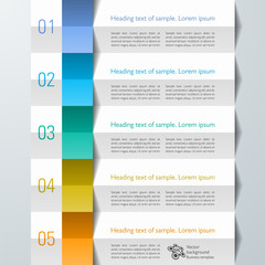 Infographics Web Banner & Label, Accordion Design