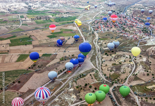 Plexiglas Ballon Hot air balloons show in Cappadocia, Turkey