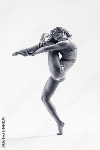 young beautiful modern style dancer - 80865275