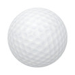 Vector golf ball isolated on white. - 80865414