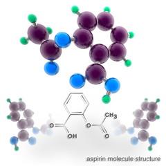 Aspirin molecule structure