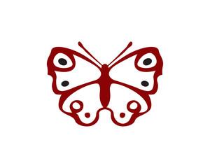 Aglais io moth