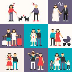 Friendship, Wedding, Honeymoon, Pregnancy, Birth of a child
