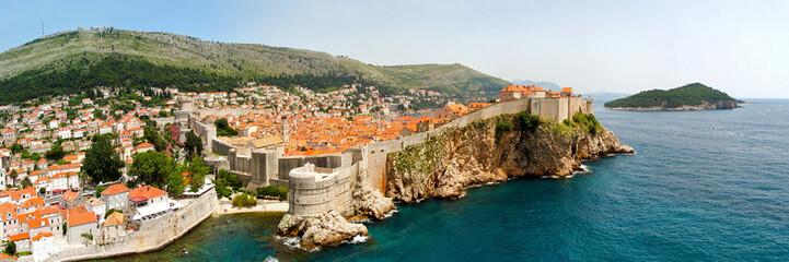 Dubrovnik walls panorama