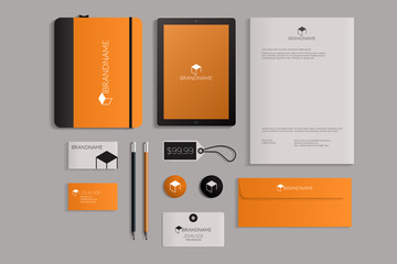 Modern corporate identity template design