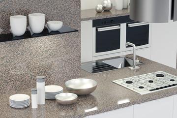 Inneneinrichtung einer neuen Küche