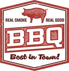 Vintage BBQ Restaurant Sign