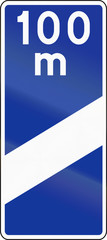Highway Countdown Marker 100 Meters In Poland