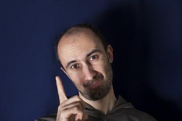 Gesturing Man
