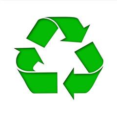Icono reciclaje recortado
