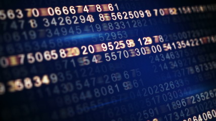 digital code on screen seamless loop 4k (4096x2304)