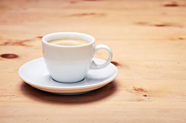 aromatic coffee on wood table