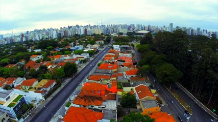 Aerial View of the City of Sao Paulo in Brazil