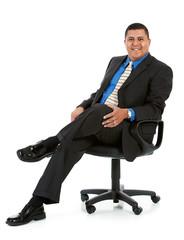 Businessman:  Man in Office Chair