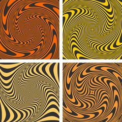 Vortex movement. Abstract designs set.