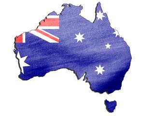 Australien Flagge als Karte (Australian Flag as a Map)