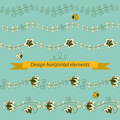 horizontal elements. Vector illustration