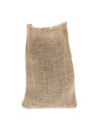 Burlap sack isolated on white background