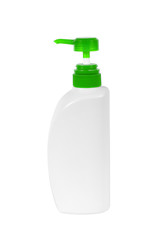 Plastic Bottle pump Of Gel isolated on white background