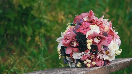 Wedding bouquet on the nature