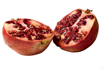 pomegranate divided in half