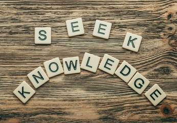 Concept. Always Seek Knowledge, business concept acronym
