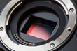 Leinwanddruck Bild - Digital Camera Sensor and Lens Mount