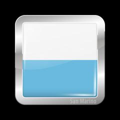 Flag of San Marino. Metal Icons