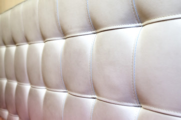 Tufted White Leather Headboard Texture for Background