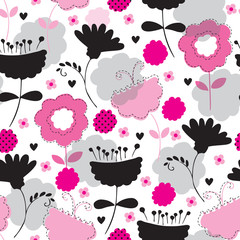 seamless flower pattern vector illustration