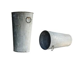 old zinc pot
