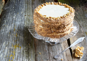 honey cake with layers