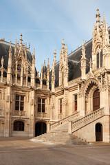 Flamboyant style of Palais de Justice in Rouen, Normandy