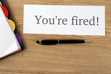 Message You're Fired