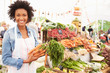 Female Stall Holder At Farmers Fresh Food Market - 80881250