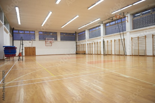 Deurstickers Stadion school gym