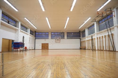 Leinwanddruck Bild school gym