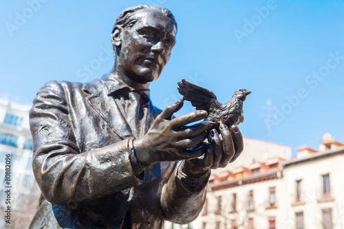 Aluminium Madrid Bronzeskulptur vom Dichter Federico Garcia Lorca