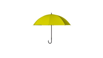 Żółty parasol 3d animacja